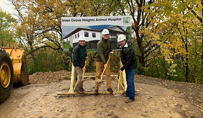 Scott Build Commercial Construction Process Inver Grove Heights Animal Hospital Groundbreaking 1