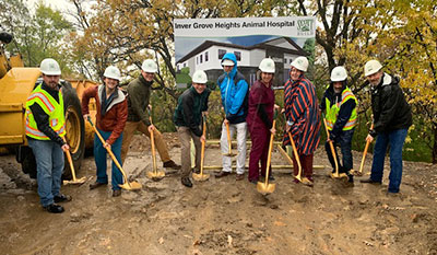 Scott Build Commercial Construction Process Inver Grove Heights Animal Hospital Groundbreaking 2