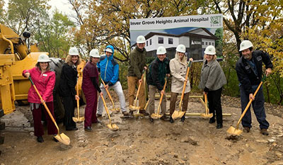 Scott Build Commercial Construction Process Inver Grove Heights Animal Hospital Groundbreaking 3